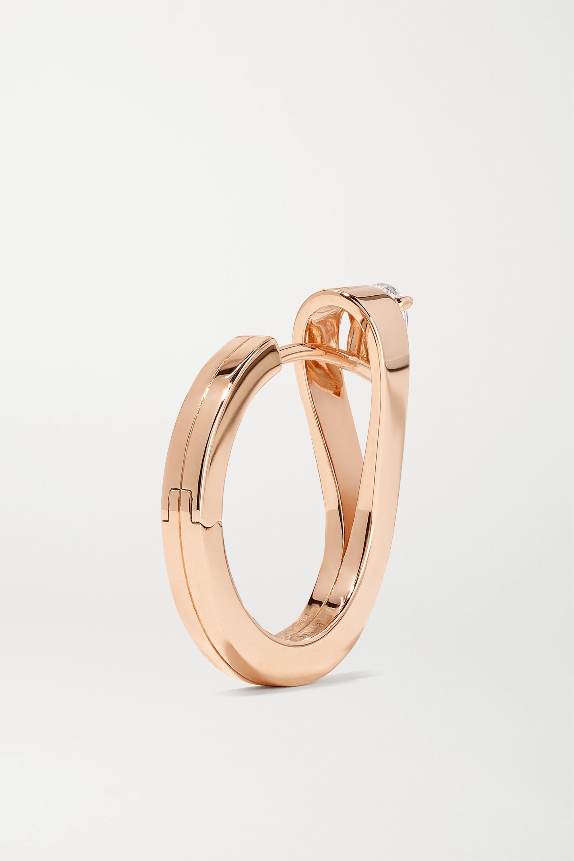Repossi Serti Inversé 18K 玫瑰金钻石单只耳环