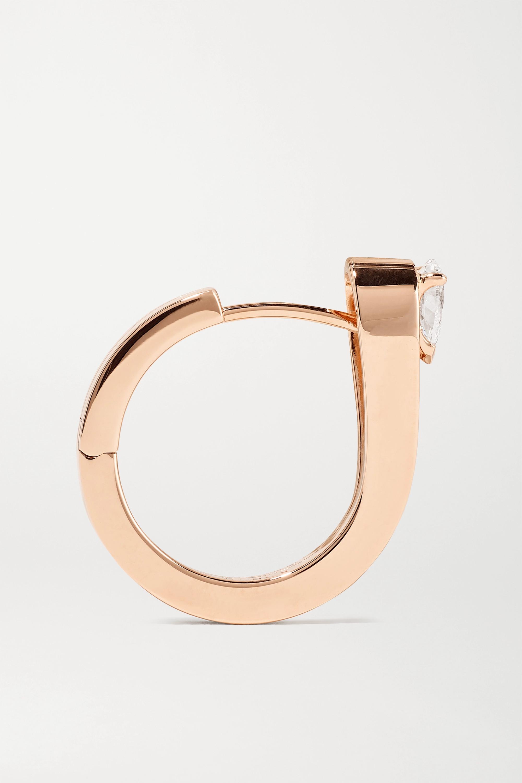 Repossi Serti Inversé 18-karat rose gold diamond earring