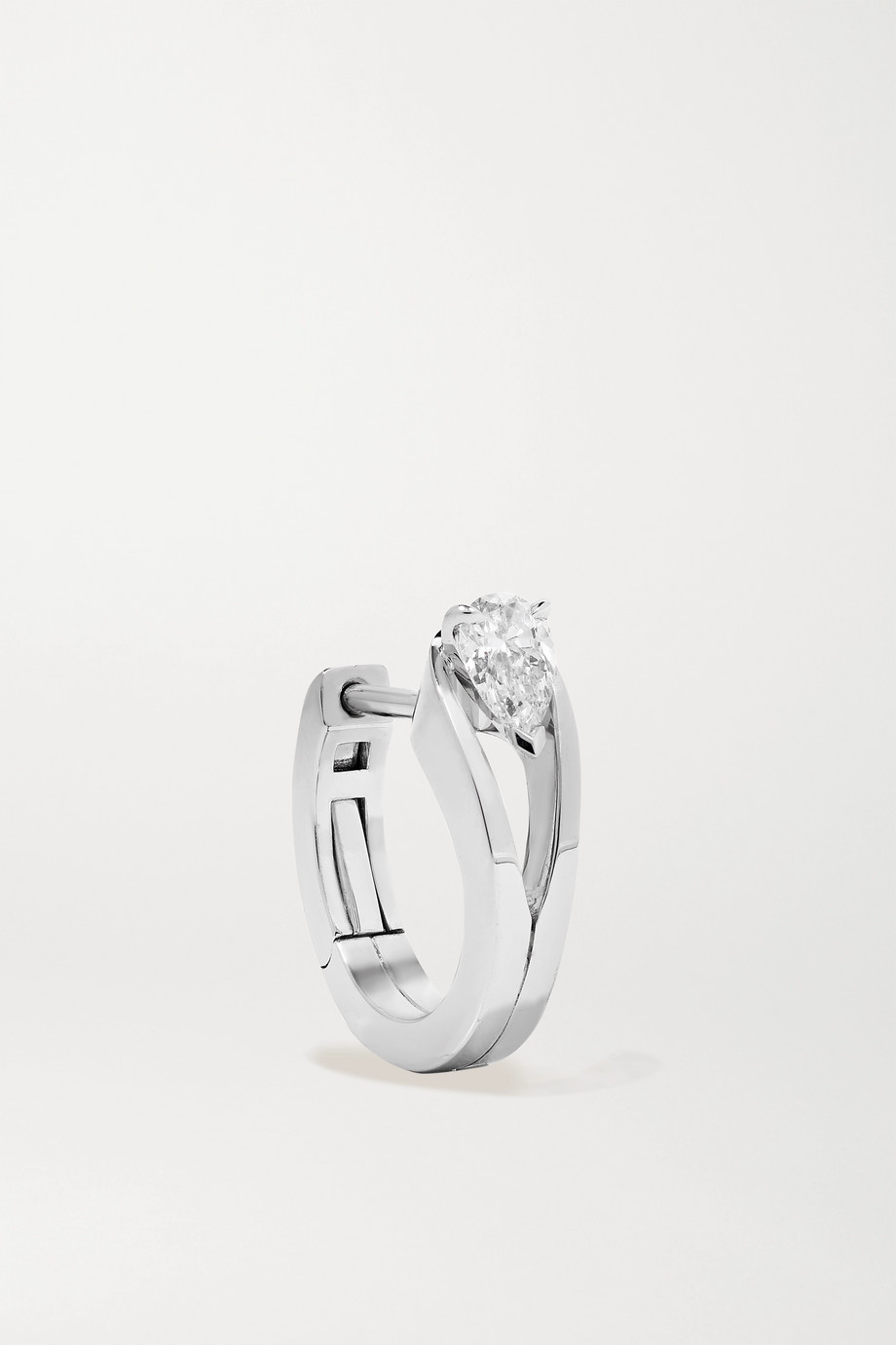 Repossi Serti Inversé 18-karat white gold diamond earring