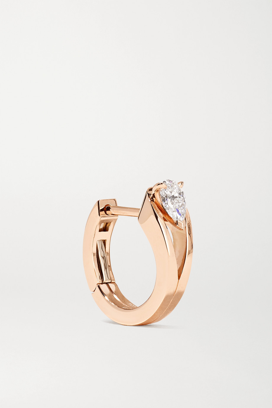 Repossi Serti Inversé 18-karat rose gold diamond earring