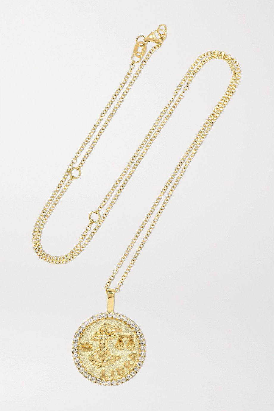 Anita Ko Zodiac large 18-karat gold diamond necklace
