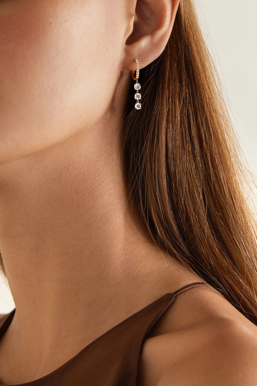 Anita Ko 18-karat gold diamond hoop earrings