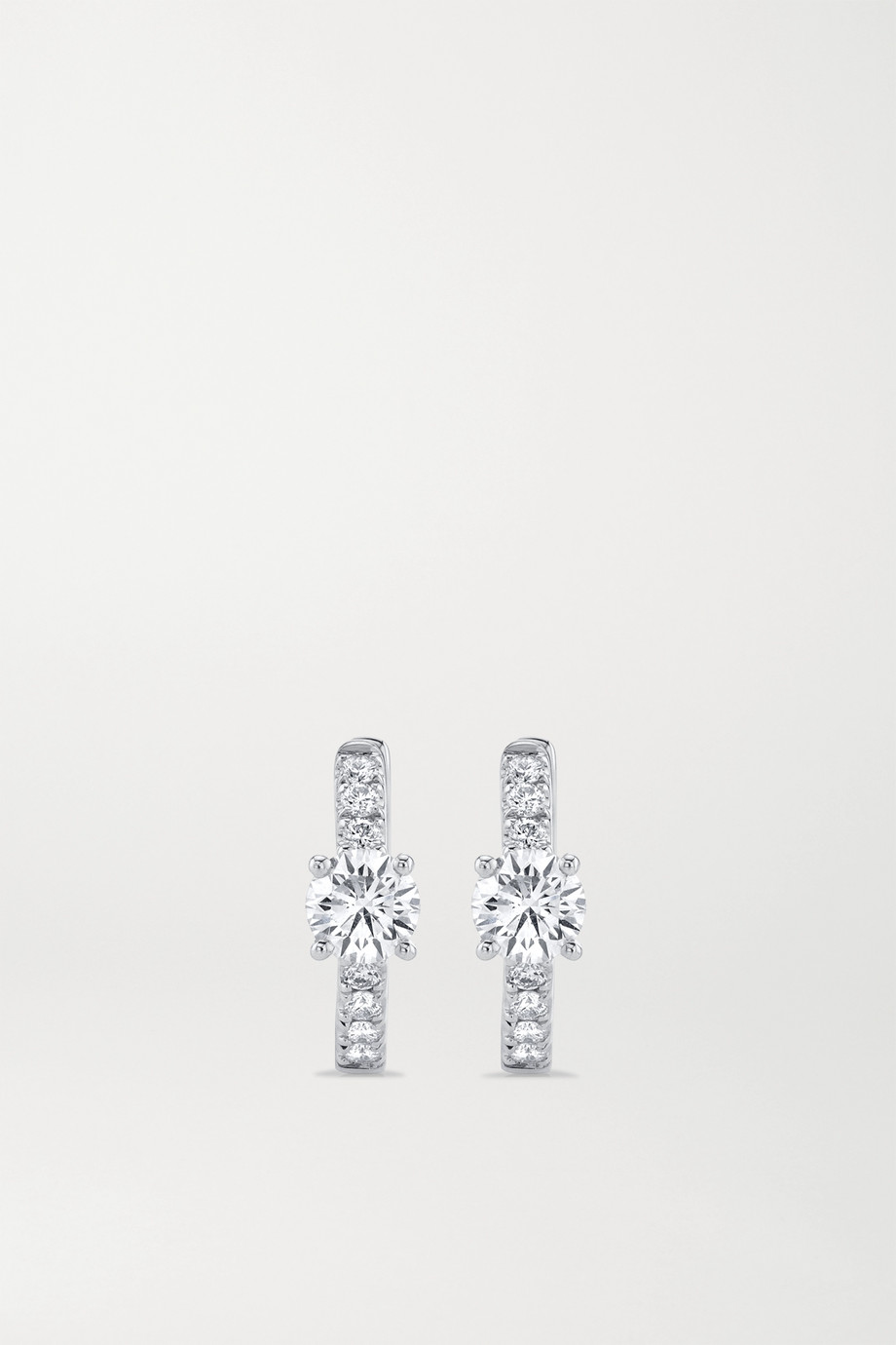 Anita Ko Huggies 18-karat white gold diamond hoop earrings