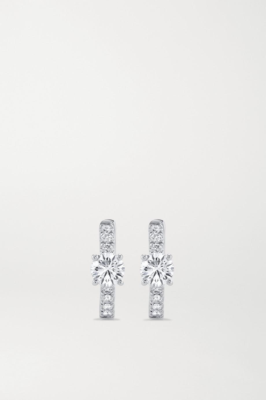 Anita Ko Huggies 18K 白金钻石耳环
