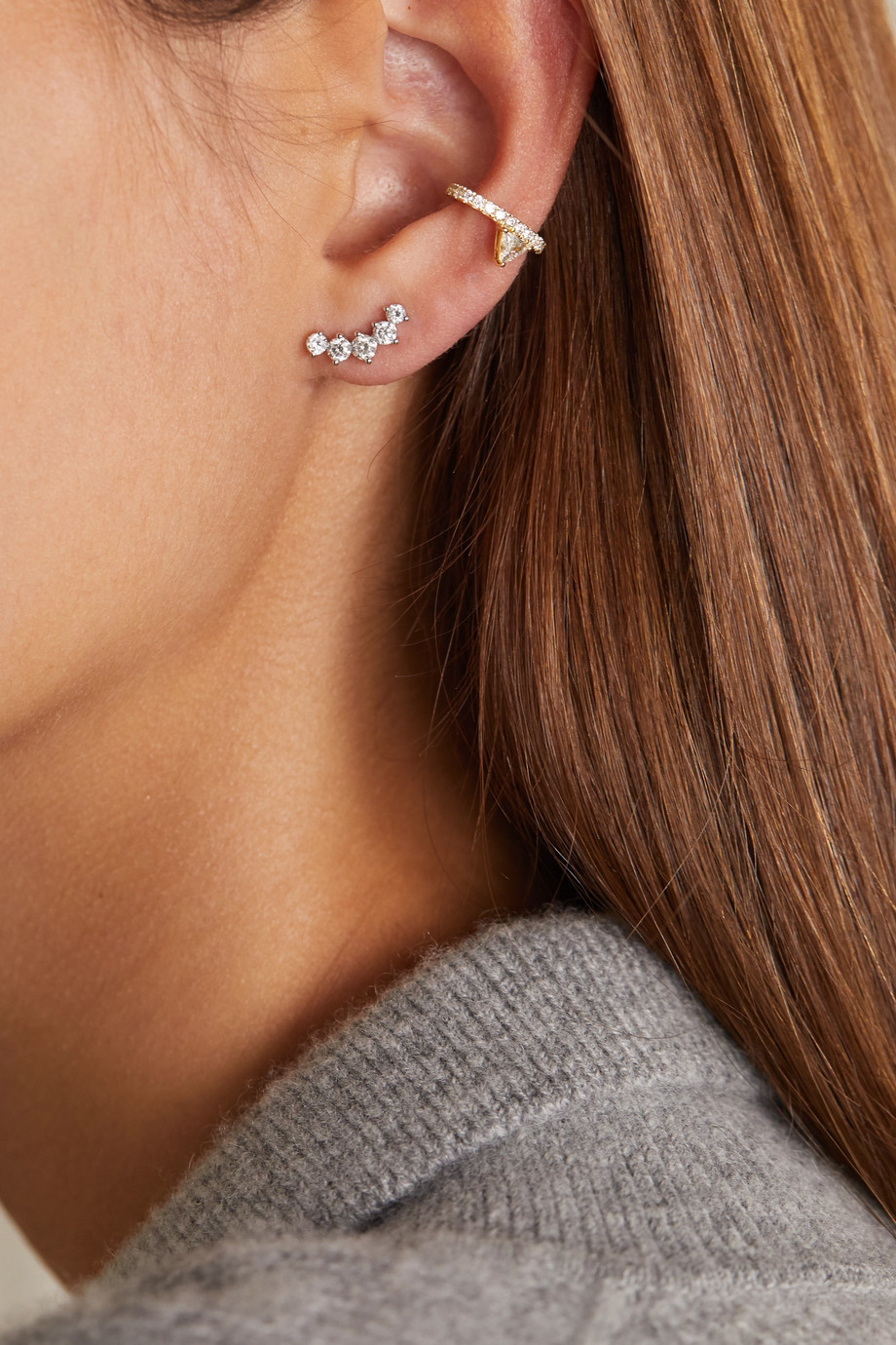 Anita Ko 18-karat gold diamond ear cuff