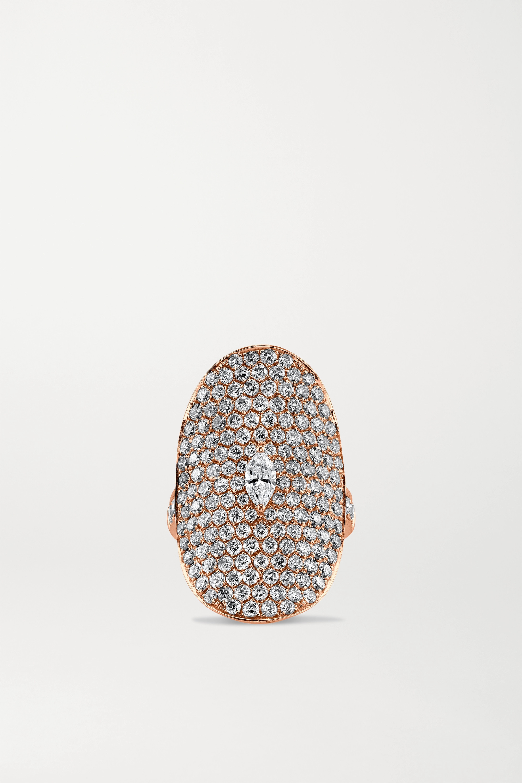 Anita Ko Ring aus 18 Karat Roségold mit Diamanten