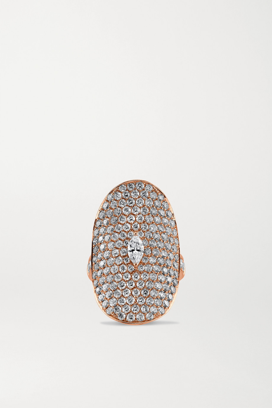 Anita Ko Bague en or rose 18 carats et diamants