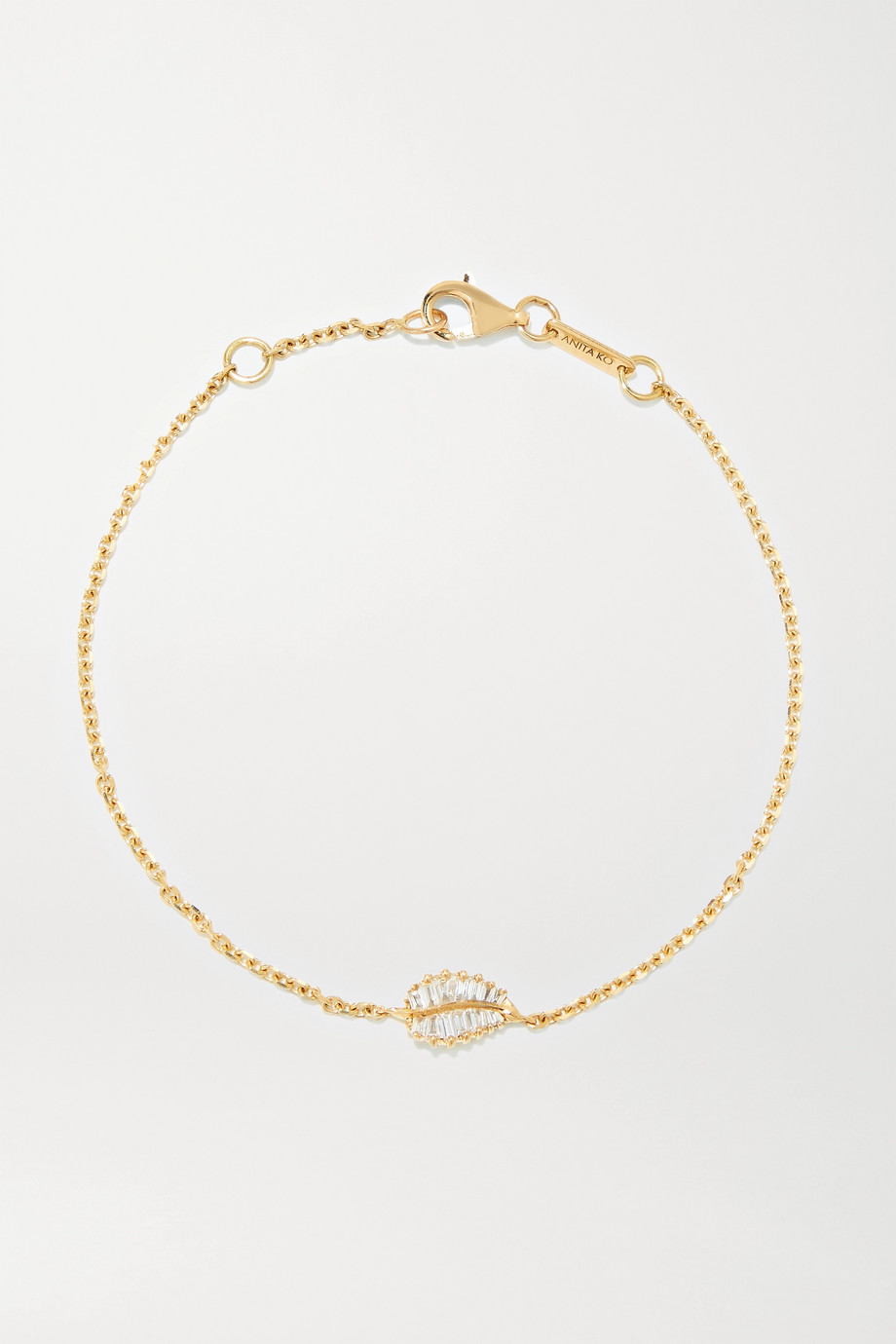 Anita Ko Palm Leaf 18-karat gold diamond bracelet
