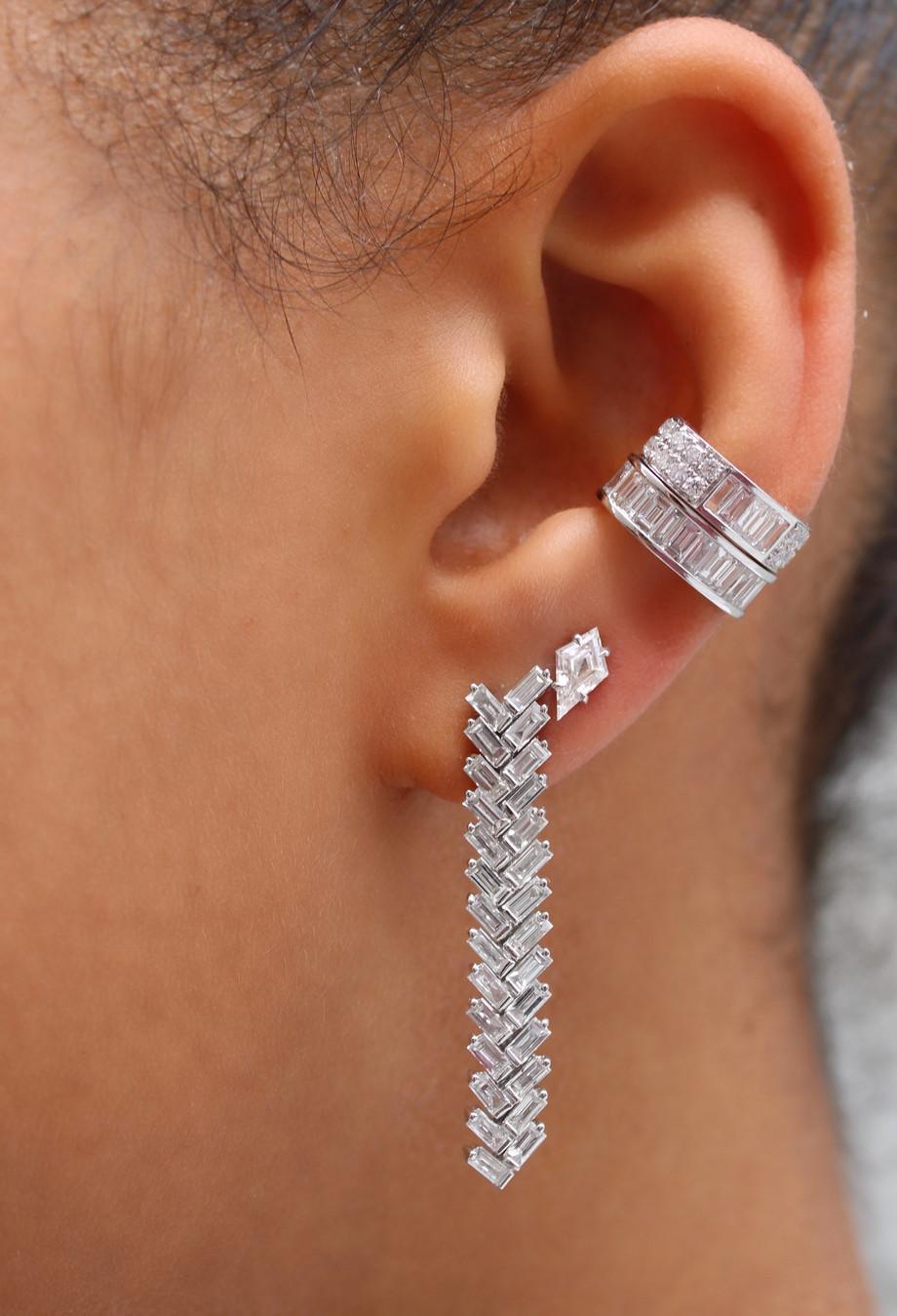 Anita Ko Ohrringe aus 18Karat Weißgold mit Diamanten