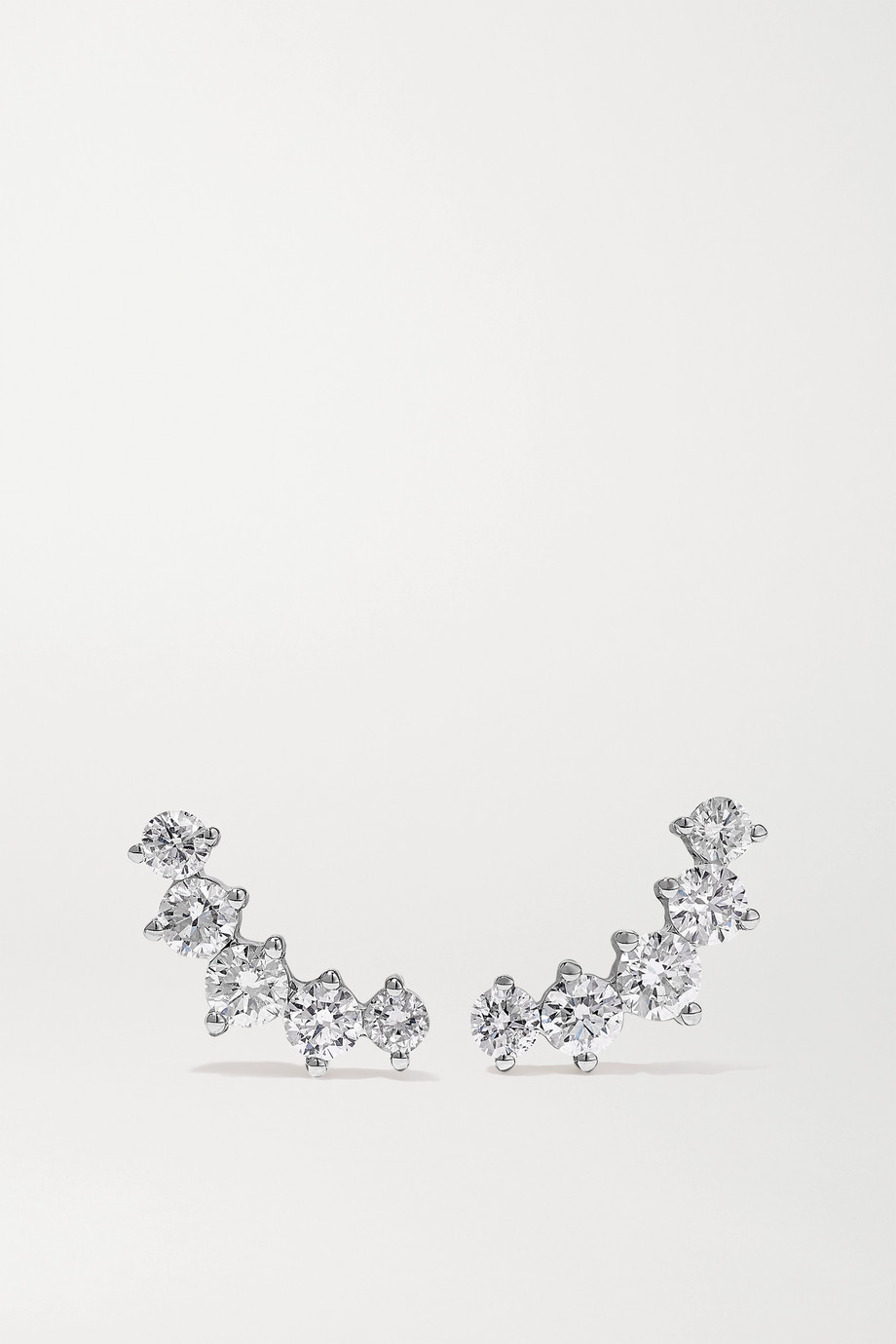 Anita Ko Arc 18-karat white gold diamond earrings