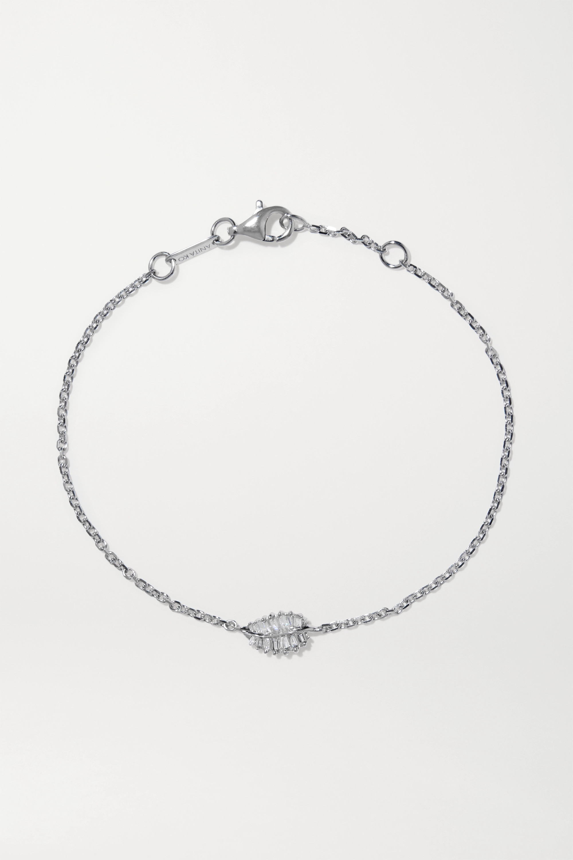Anita Ko Palm Leaf 18-karat white gold diamond bracelet
