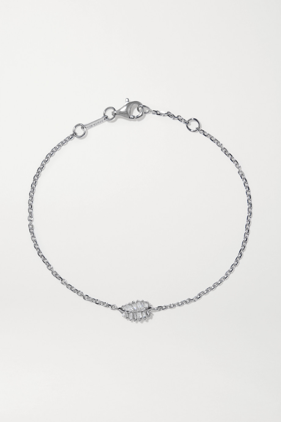 Anita Ko Palm Leaf 18-karat white gold diamond bracelet
