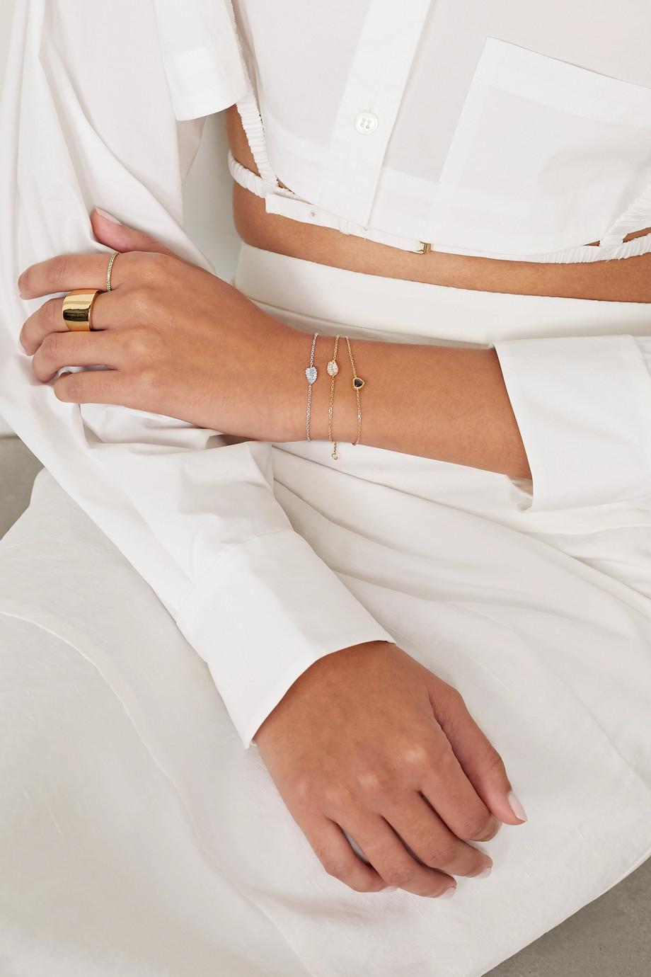 Anita Ko Palm Leaf Armband aus 18 Karat Weißgold mit Diamanten