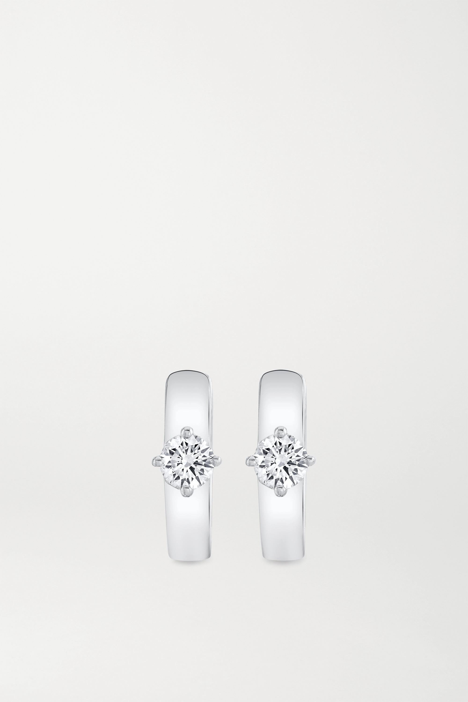 Anita Ko Huggies Creolen aus 18 Karat Weißgold mit Diamanten