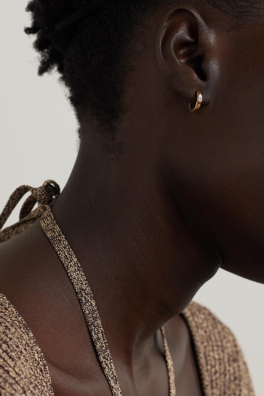 Anita Ko 18K 黄金钻石耳环
