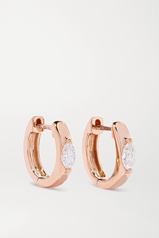 Anita Ko Huggies 18-karat rose gold diamond hoop earrings