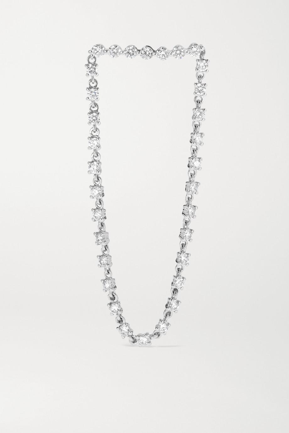 Anita Ko 18-karat white gold diamond earring