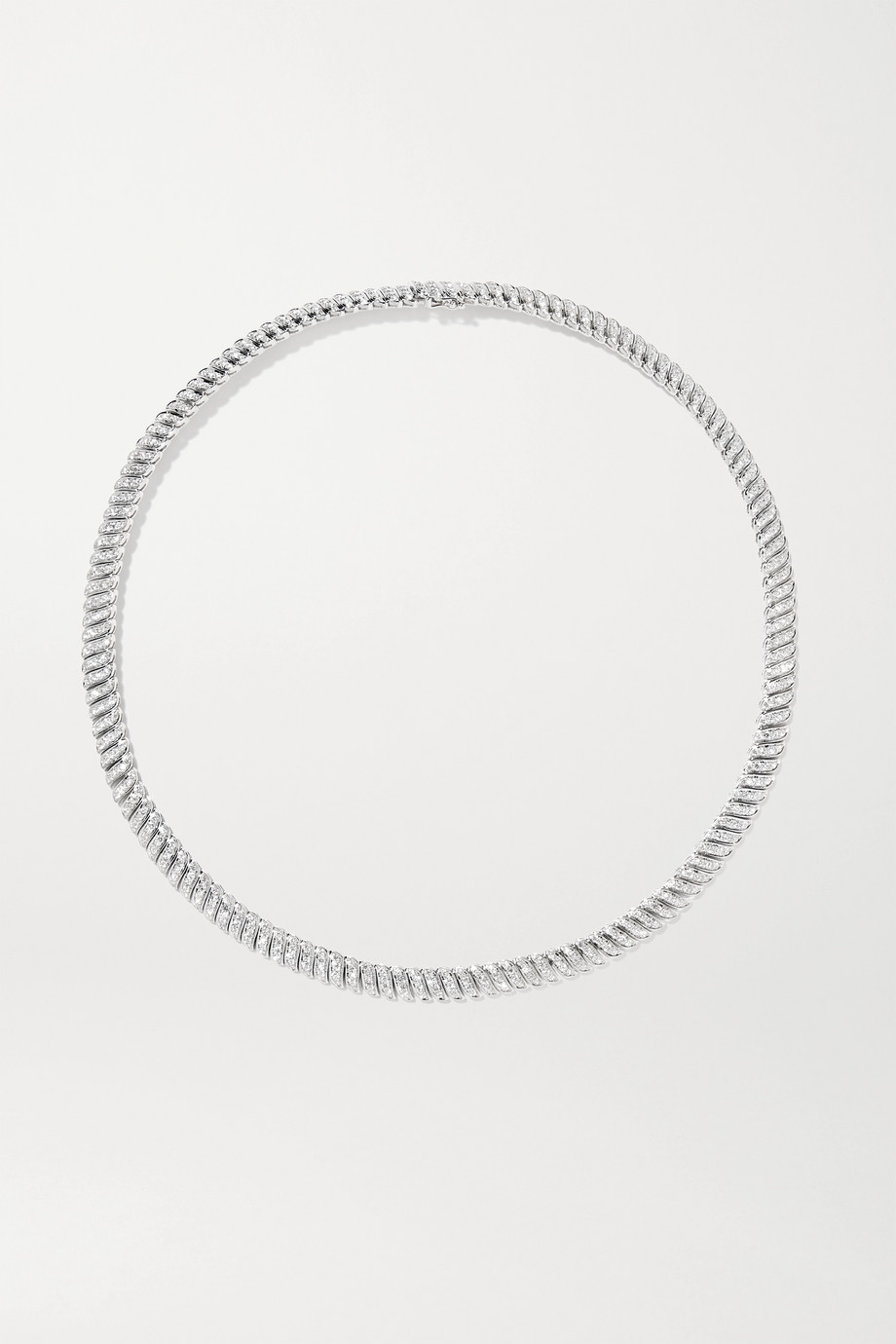 Anita Ko Zoe 18-karat white gold diamond necklace
