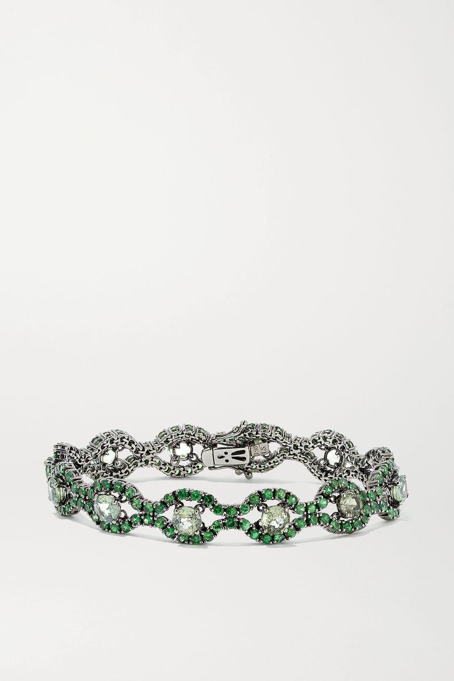 Lorraine Schwartz 18-karat blackened white gold garnet bracelet