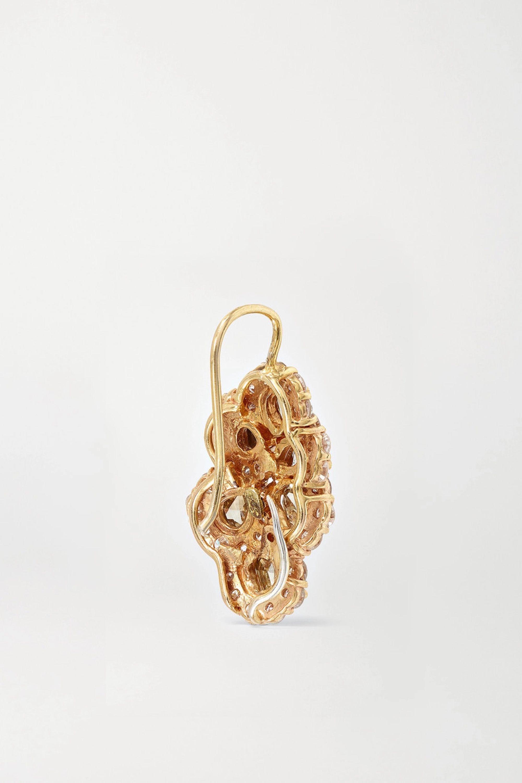 Lorraine Schwartz 18-karat rose gold diamond earrings