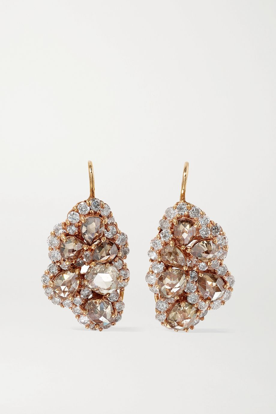 Lorraine Schwartz 18-karat rose gold diamond earrings
