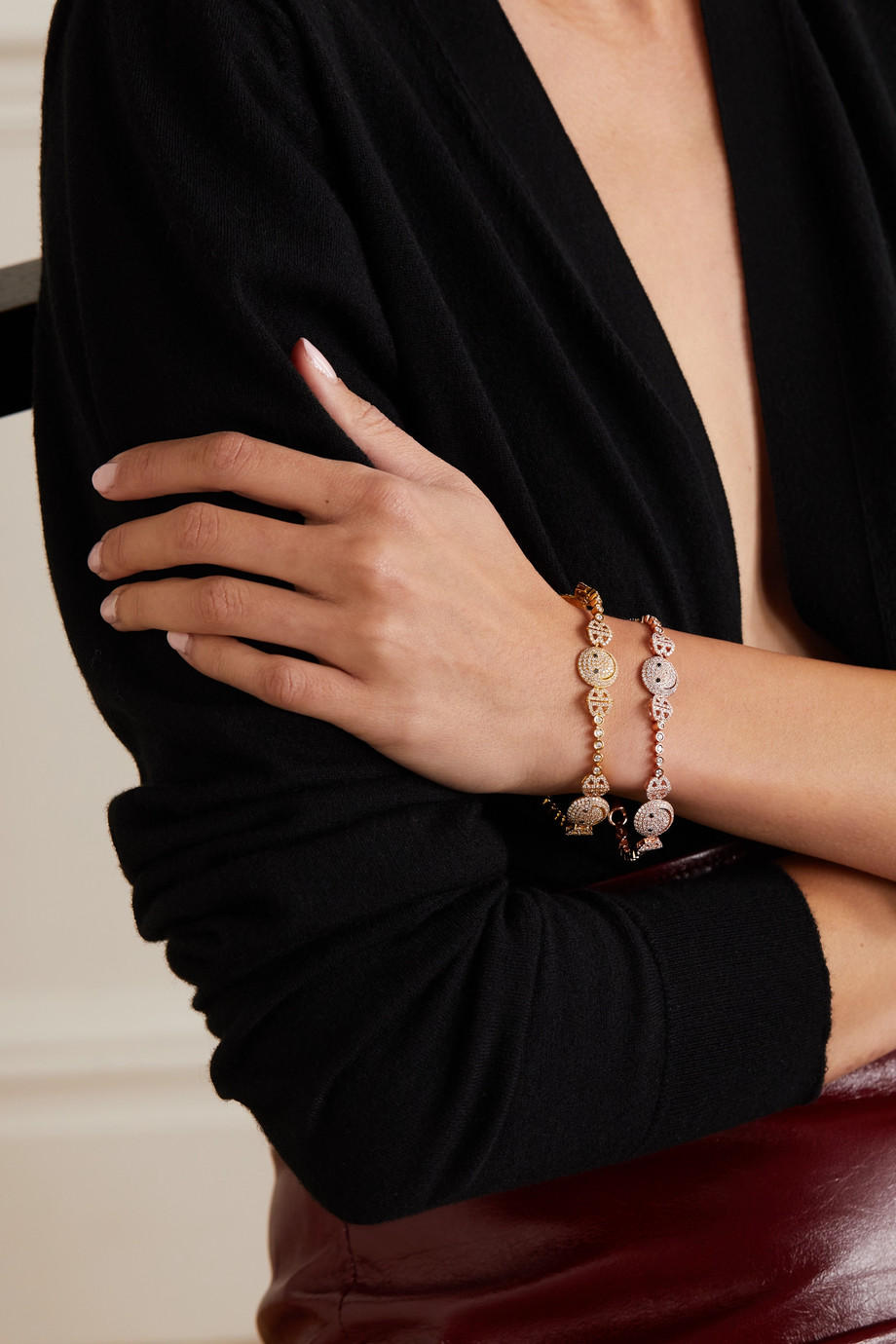 Lorraine Schwartz Bracelet en or rose 18 carats et diamants 2B Happy Medium
