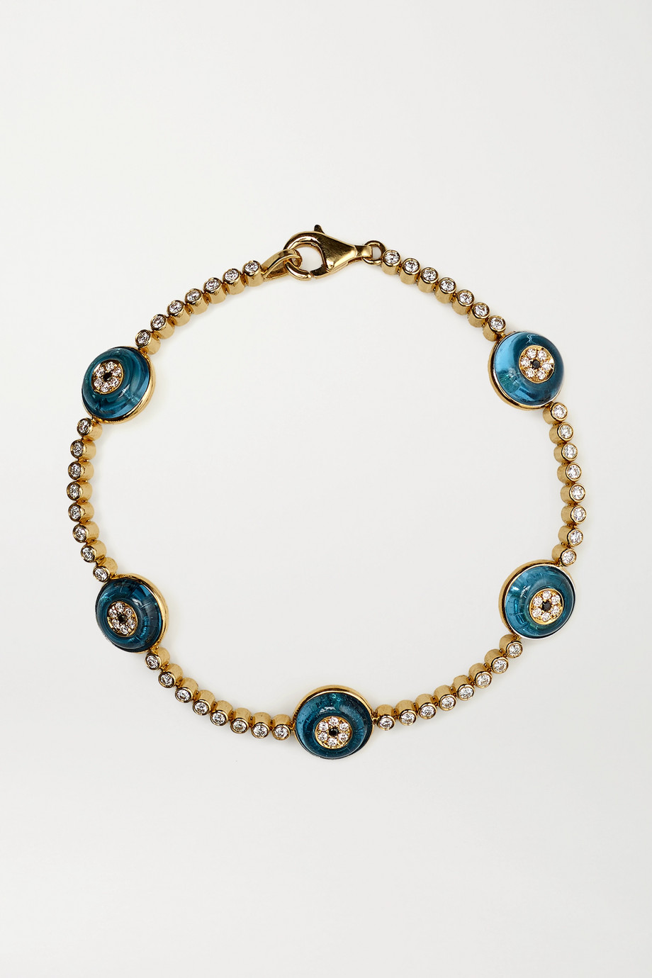 Lorraine Schwartz 18-karat gold, topaz and diamond bracelet
