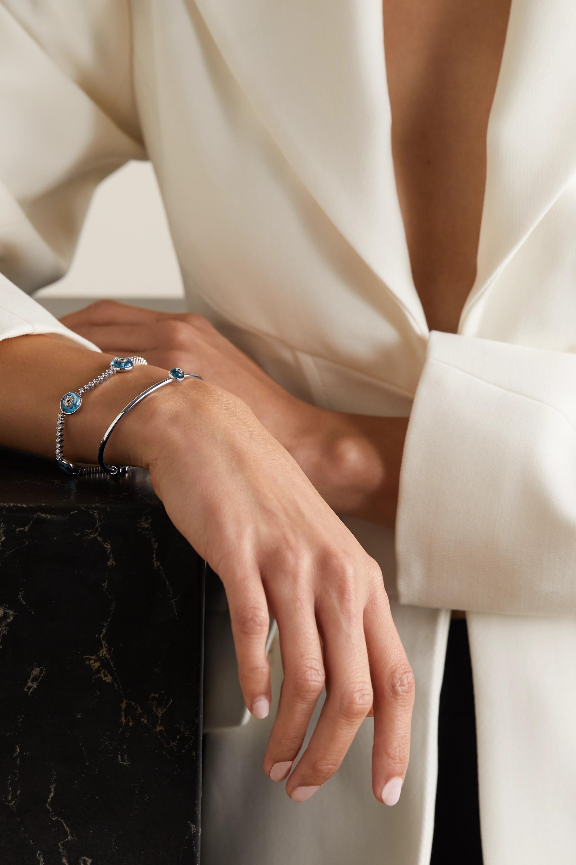 Lorraine Schwartz Armspange aus 18 Karat Weißgold mit Emaille und Diamanten