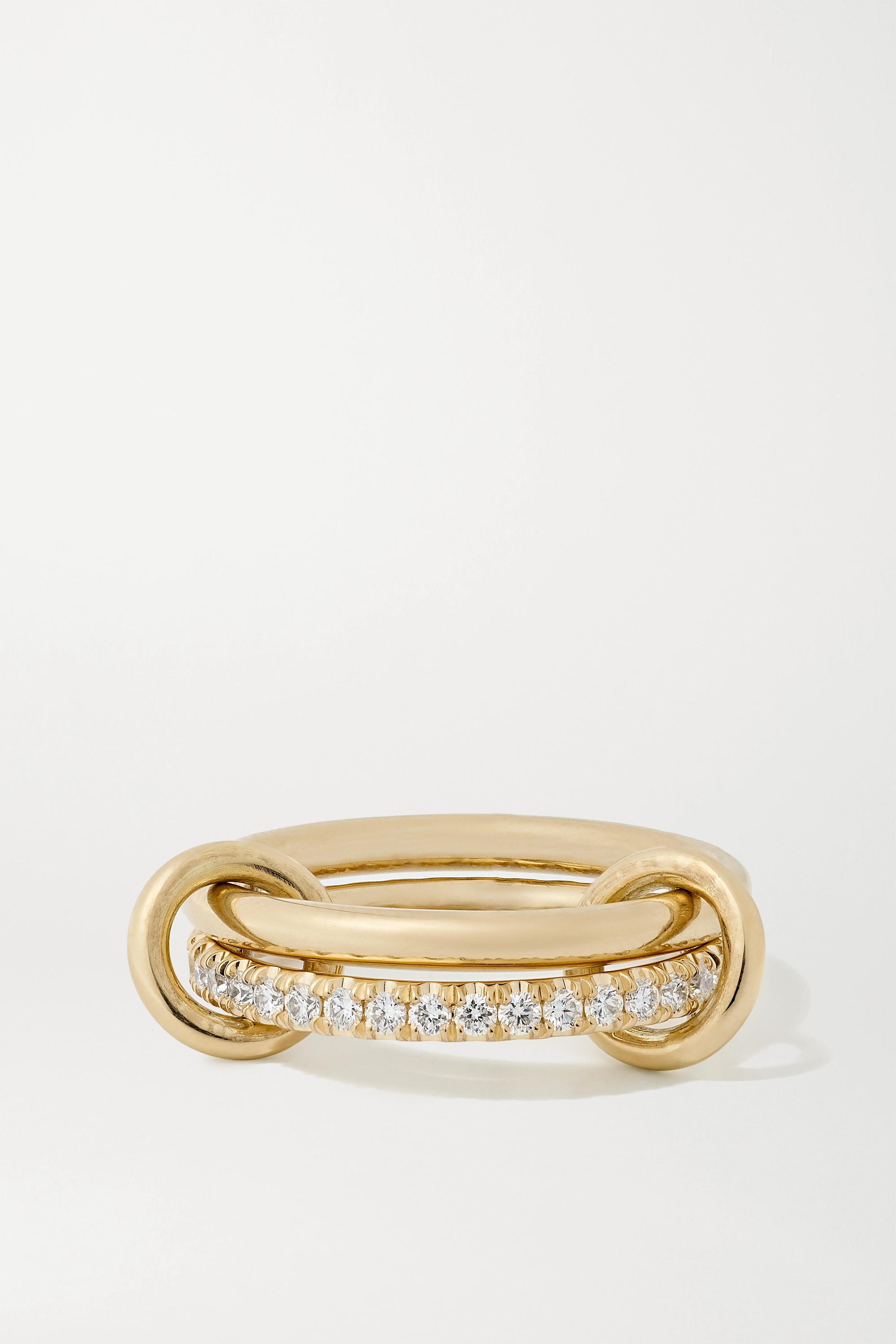 Spinelli Kilcollin - Ceres Deux set of two 18-karat gold and diamond rings