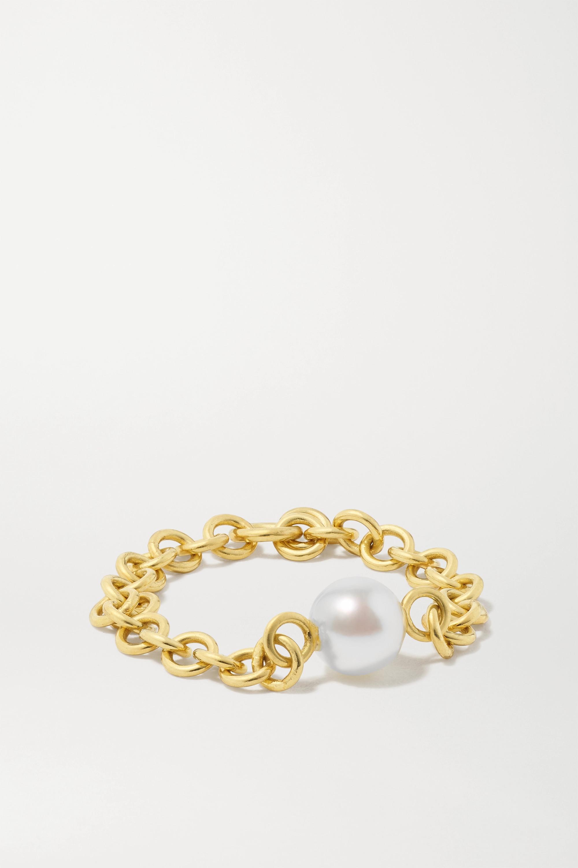 Spinelli Kilcollin Gravity Ring aus 18 Karat Gold mit Perle