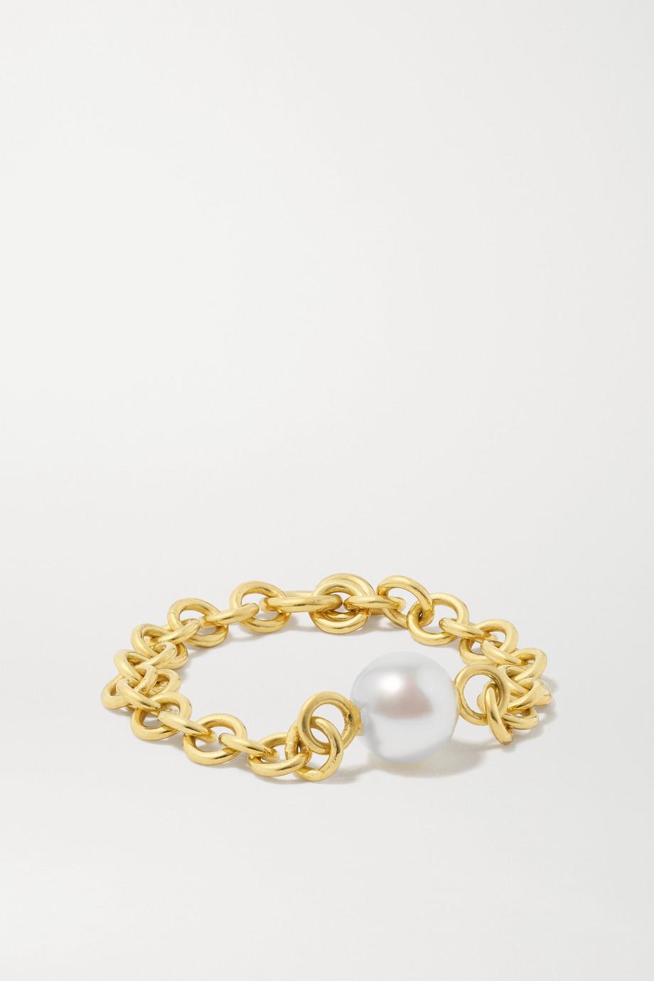 Spinelli Kilcollin Gravity 18-karat gold pearl ring