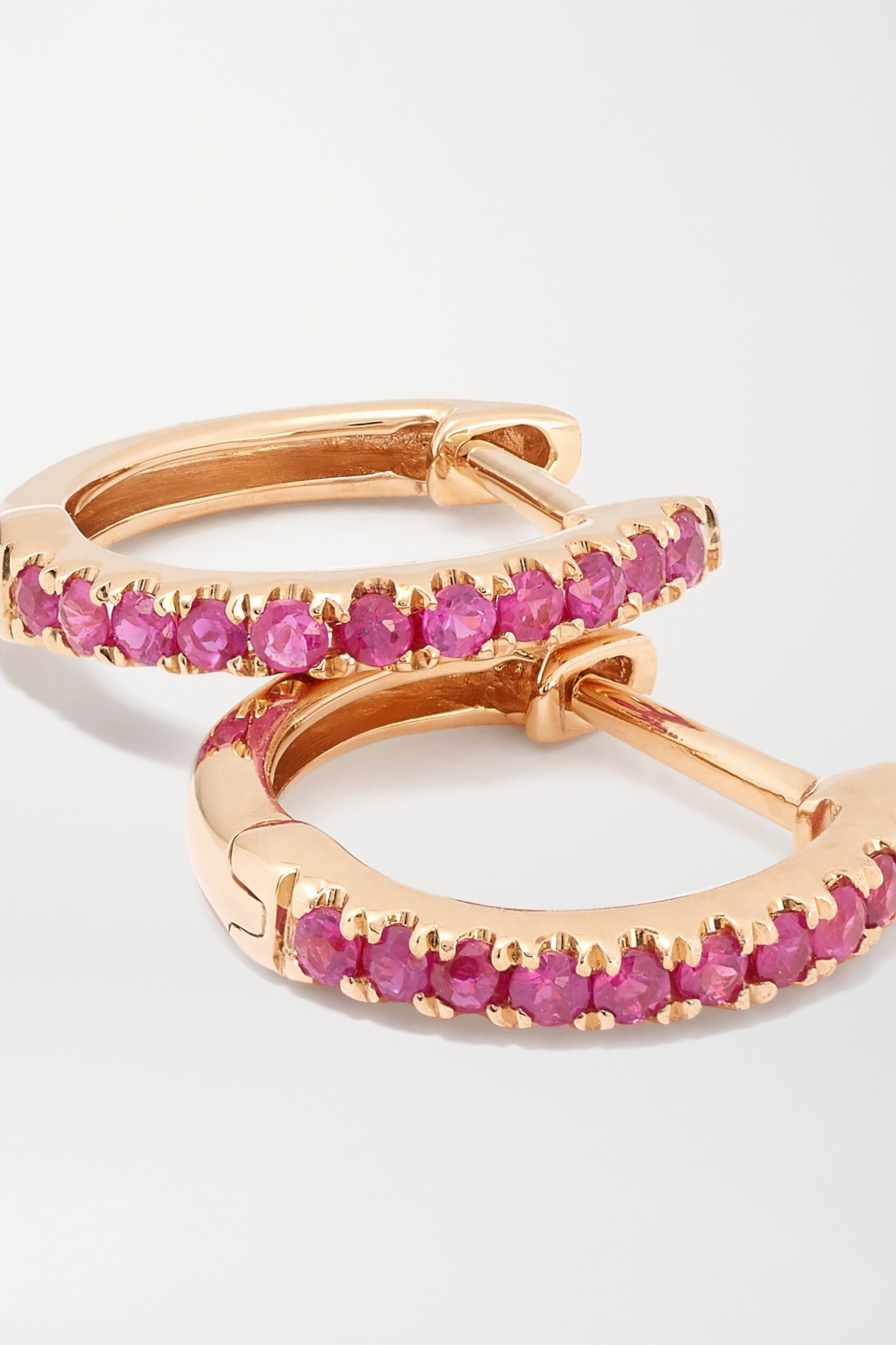 Anita Ko Huggies 18-karat rose gold ruby earrings