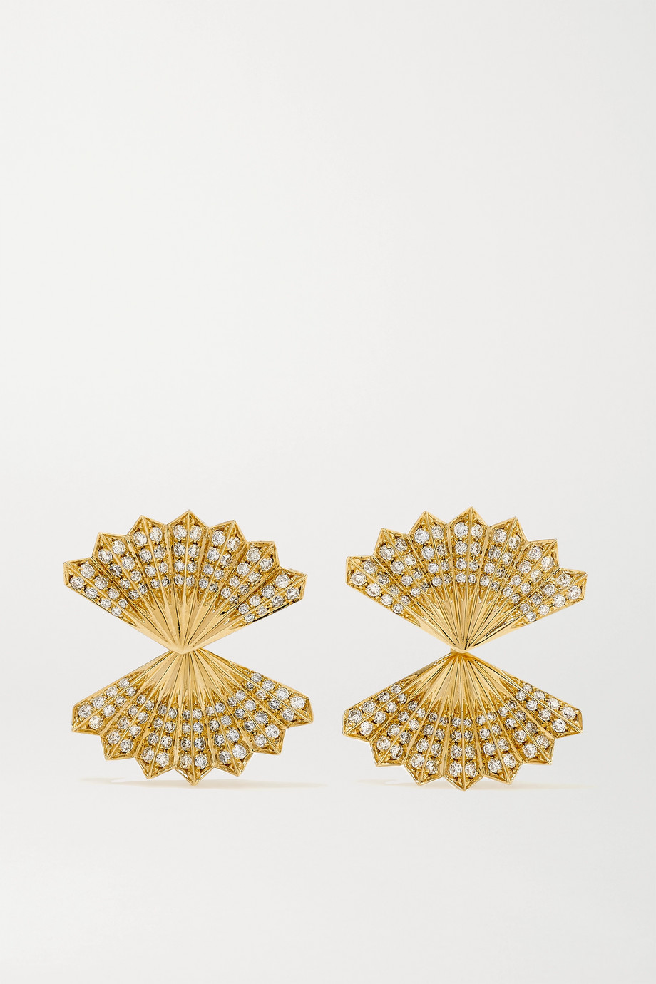 Anita Ko 18-karat gold diamond earrings