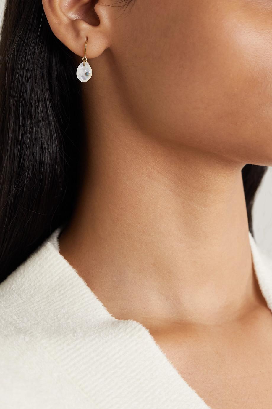 Pascale Monvoisin Cauri N°2 9-karat gold, moonstone and turquoise earring