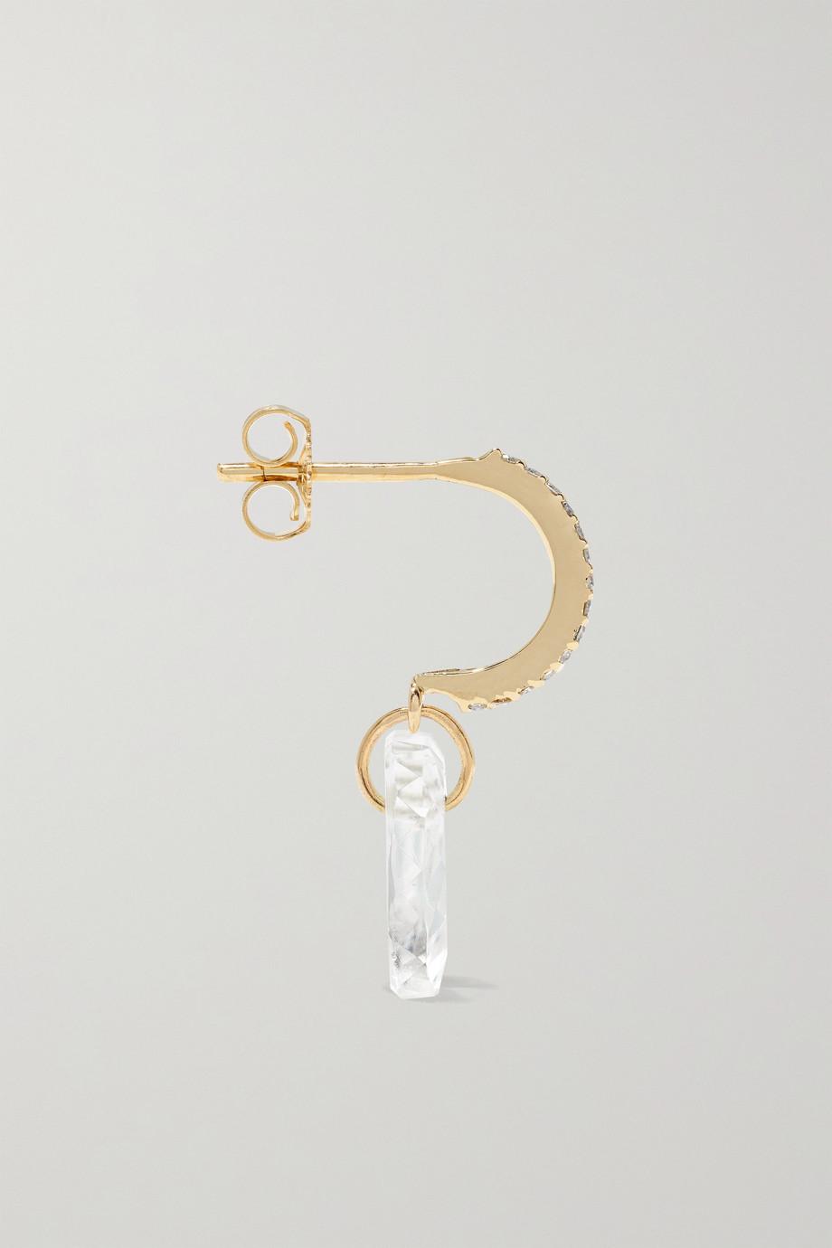 Pascale Monvoisin Gabin N°1 9-karat gold, crystal and diamond earring