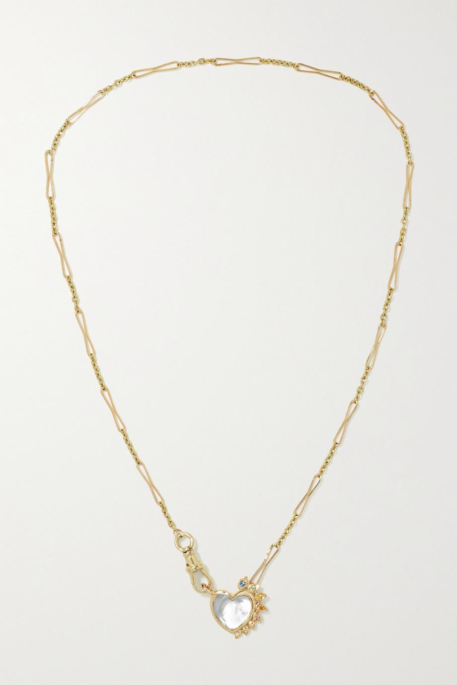 Pascale Monvoisin Gabin N°4 9-karat gold multi-stone necklace