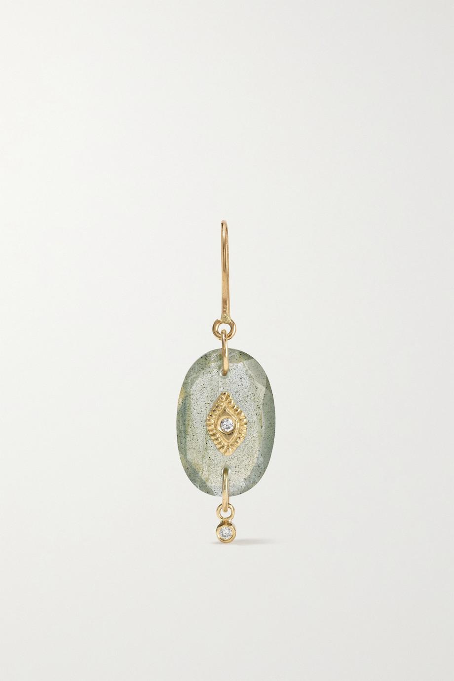 Pascale Monvoisin Souad N°2 9-karat gold, labradorite and diamond earring