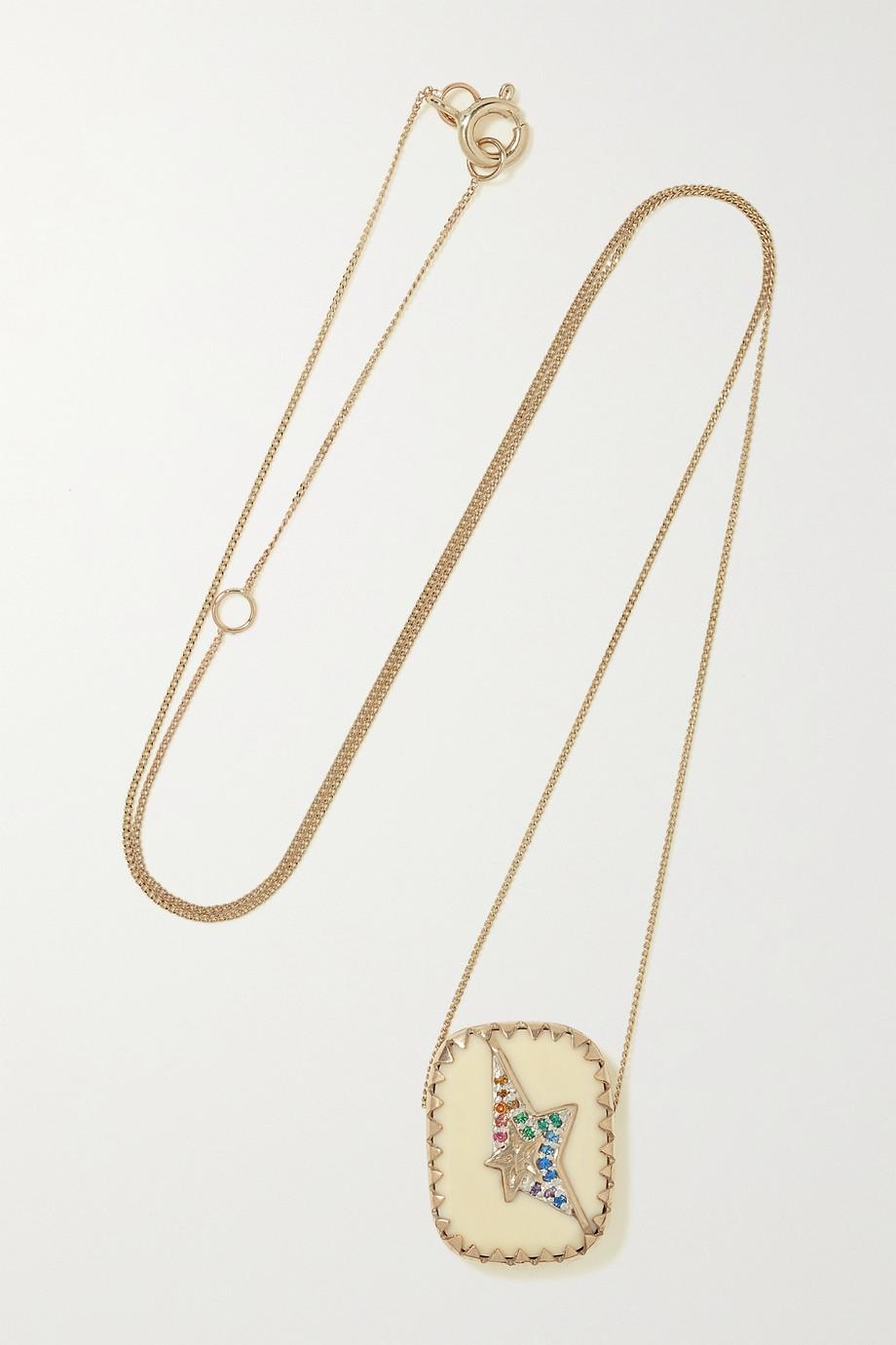 Pascale Monvoisin Varda N°1 Kette aus 9 Gold mit Sterlingsilber, Bakelit® und Nanogems