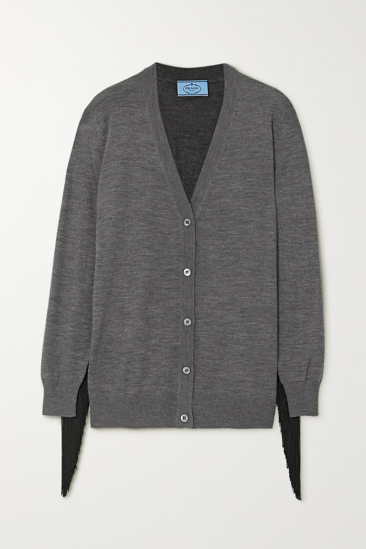 Prada Fringed wool cardigan