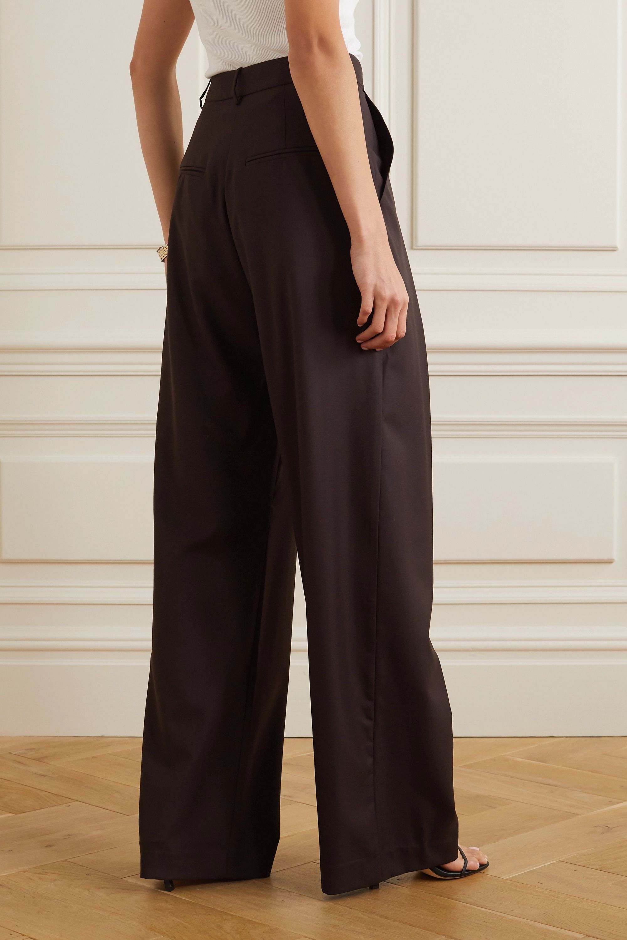 Michael Lo Sordo Boy wool-twill wide-leg pants