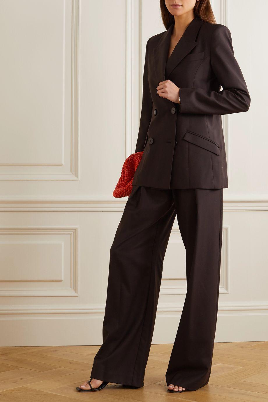 Michael Lo Sordo Boy wool-twill wide-leg pants