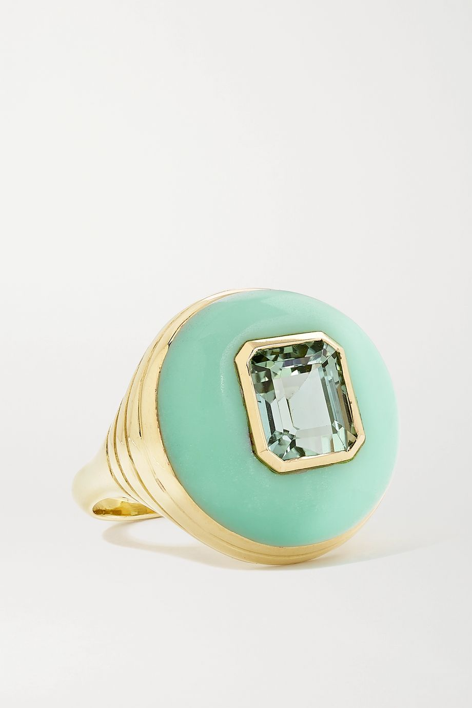 Retrouvaí Bague en or 14 carats, chrysoprase et tournmaline Lollipop Small