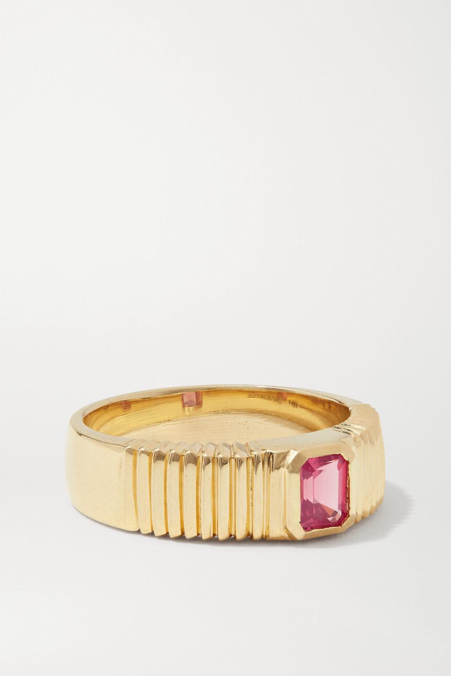 Retrouvaí 14-karat gold spinel ring