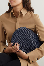 Neous Pluto pleated leather clutch