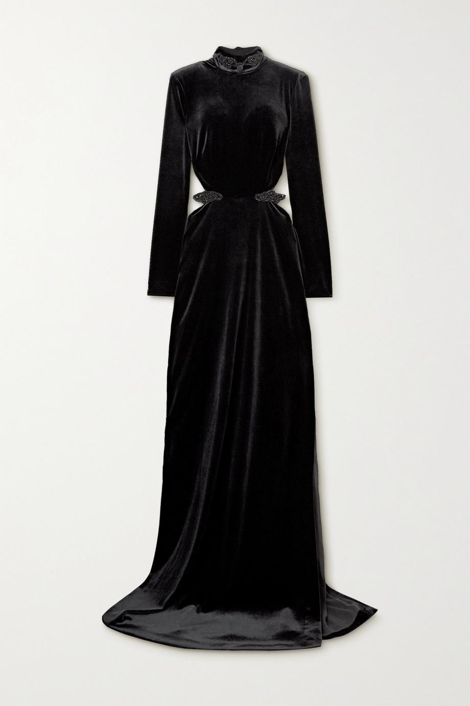 Dundas Cutout embellished velvet gown