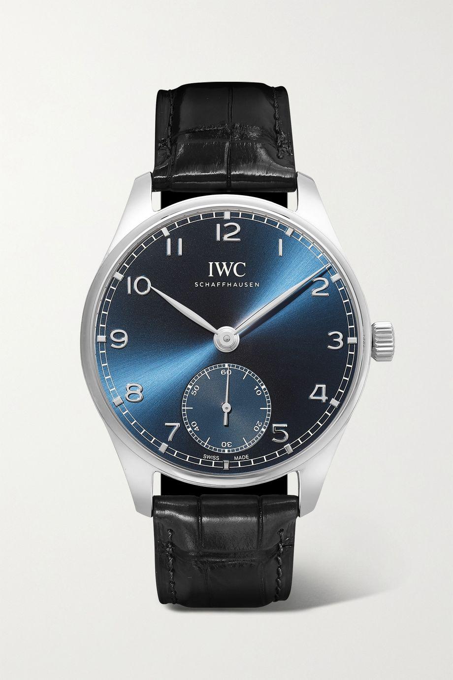 IWC SCHAFFHAUSEN Portugieser Automatic 40.4mm stainless steel and alligator watch