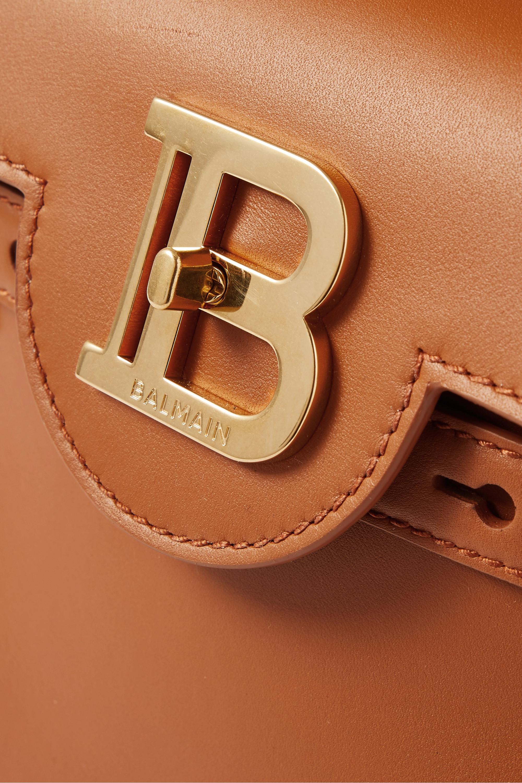 Balmain B-Buzz kleine Schultertasche aus Leder