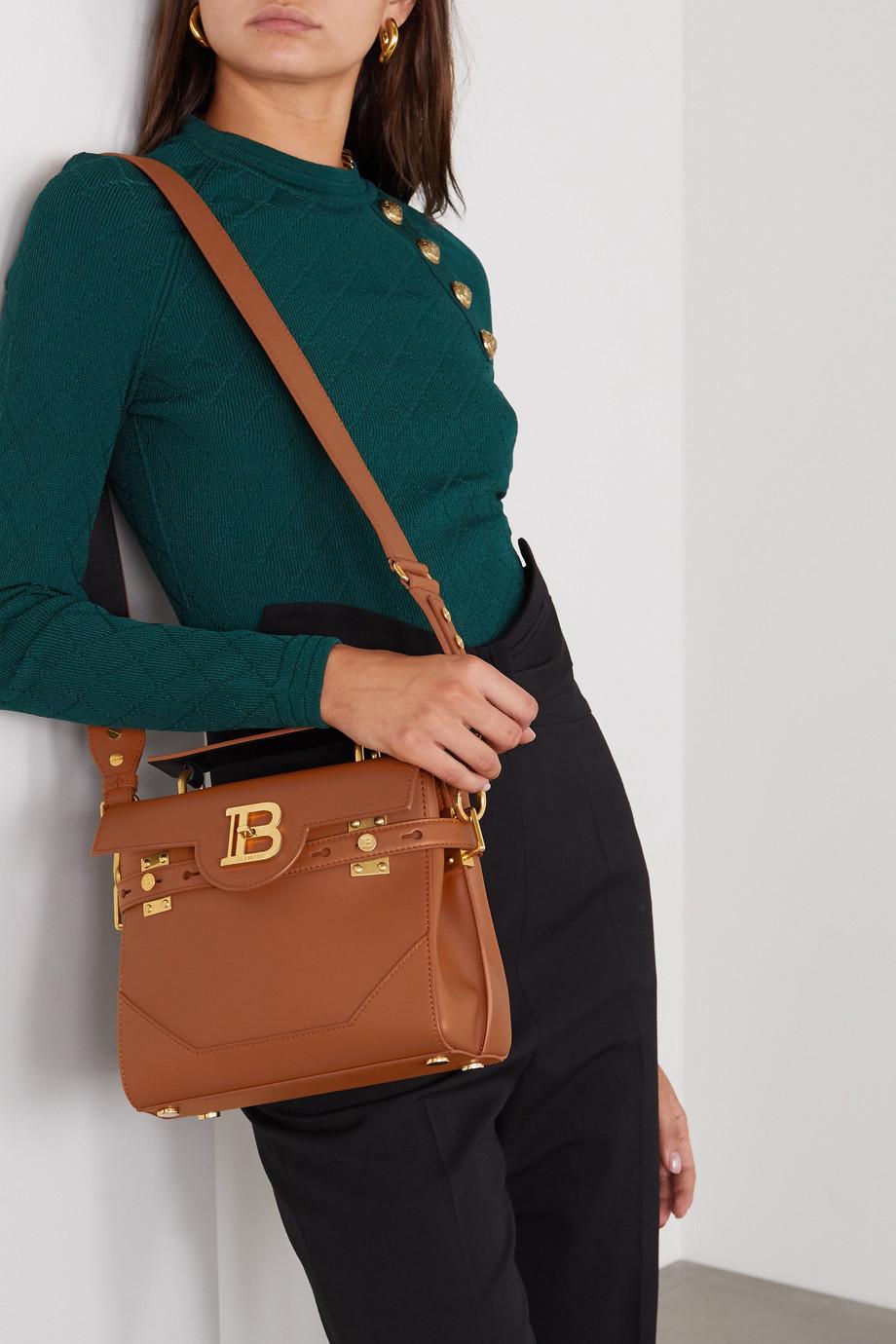 Balmain B-Buzz small leather shoulder bag