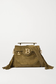 Balmain B-Buzz 19 fringed suede shoulder bag