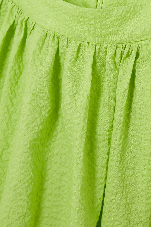 Marysia Limone cutout cotton-seersucker halterneck dress